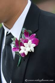 Orchid Boutonniere Wedding Boutonniere Vickies Flowers Brighton Co Florist