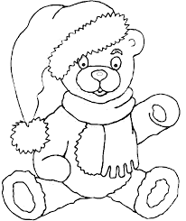 teddy bear coloring book page christmas teddy bear coloring page