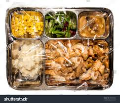 fashioned thanksgiving tv dinner on stock photo 159960692