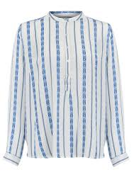 lollys laundry lollys laundry jaquard shirt blue