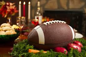 thanksgiving football pigskin turkey dinner stock photo image