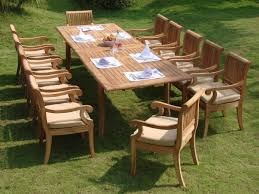 irresistible teak patio dining sets of vintage wooden garden