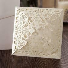 laser cut wood invitations square floral laser cut wedding invitation envelope invite mad1