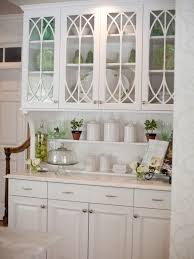 Beadboard Kitchen Backsplash by This Built In Hutch With Traditional Glass Cabinet Doors