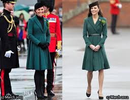 duchess kate duchess kate recycles emilia wickstead dress catherine duchess of cambridge in emilia wickstead st patrick s