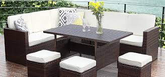 all weather dining table 10pcs patio sectional furniture set wisteria lane outdoor