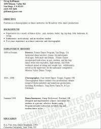 Sample New Teacher Resume by Dance Resume Format Template Design