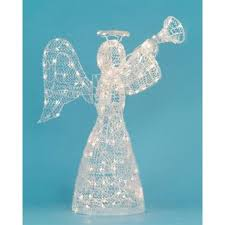 lighted christmas yard angels 48 lighted opalescent angel with trumpet swirl christmas yard art