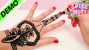 henna tattoo selber machen henna hand tattoo tutorial deutsch