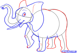 drawn elephant step by step pencil and in color drawn elephant