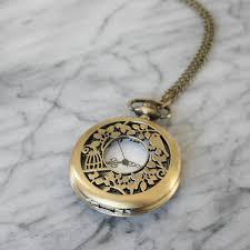pendant pocket watch necklace images Hummingbird pocket watch necklace by hayley co jpg