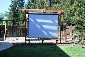 Backyard Projector Screen by Outdoor Projector Screen Material U2014 Jen U0026 Joes Design Best