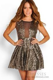 glitter dresses for new years black and gold sequin party dress with chain neck wrap dresses