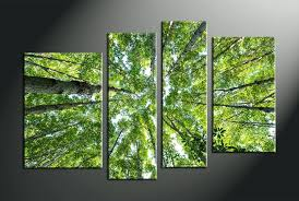Birch Home Decor Wall Arts Home Decor 4 Piece Canvas Wall Art Forest Multi Panel