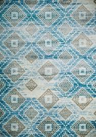 Aztec Area Rug Blue Contemporary Rug South Western Design Carpet Cheap Area