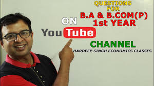 important questions of economics for b com p and b a p 1st