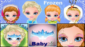 baby barbie frozen face painting inspited movie game face