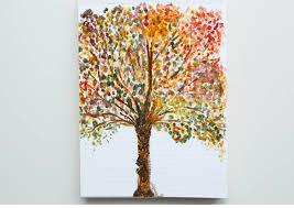 painting tree of original watercolor nature tree small