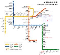 Metro Route Map by 2008 Ot Conference Guangzhou Metro Route Map