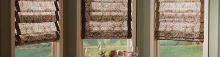 Printed Fabric Roman Shades - enchanting pattern fabric roman shades and hobbled roman shades