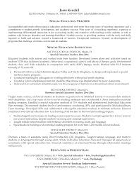 Resume Samples Of Teachers by Special Education Teacher Resume Samples Free Resume Example And