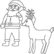 coloring pages santa u0026 rudolph coloring