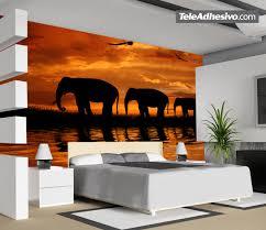 family of elephants to cross light br wall murals elefantes