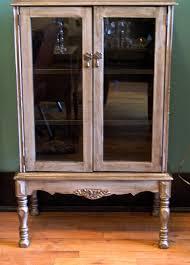 antique hutch with glass doors glass door liquor cabinet