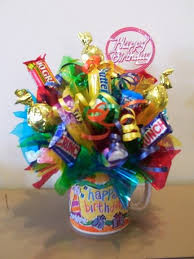 gift mugs with candy happy birthday candy gifts and crafts candy bouquets