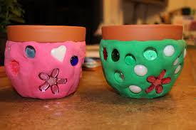 faux mosaic flower pot fun family crafts