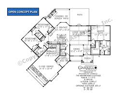 open style floor plans westbrooks ii cottage 11117 g house plan house plans by