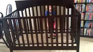 delta convertible crib toddler rail delta children layla 4 in 1 crib youtube