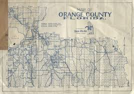 Map Of Orange County Orange County Township And Range Map Circa 1935 Orlando Memory