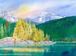 paint places painting wild places with watercolors learn to paint lake mcdonald