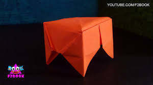 easy origami stool folding instructions kids preschool craft and