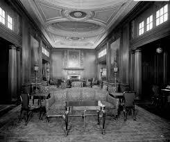 first class smoking room on the u0027aquitania u0027 1914 national