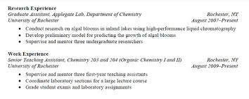 Sample Of Work Experience In Resume by Resumes Learn Science At Scitable