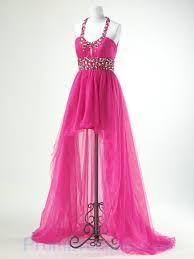 buy tailor made halter beading trimed organza asym nice prom dress