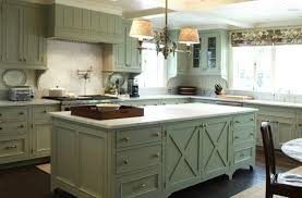 central island unit breakfast bar in modern country style kitchen