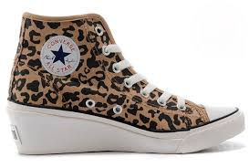 Converse High Heels Cost Effective Fashion Converse All Star Brown Leopard Print Wedge