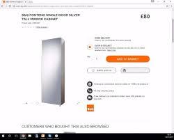 bathroom cabinet ardenno range bq in dover kent gumtree benevola b q bathroom cabinet