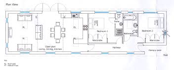 plan view the room layout of bonny catty bungalow