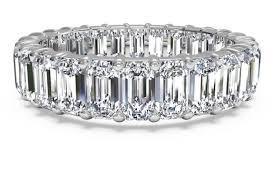 emerald cut wedding band what is the difference between an engagement ring and a wedding