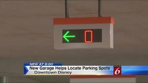 Technology Garage by New Garage At Downtown Disney Helps Find Parking Spots