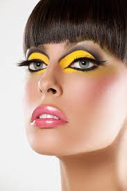 yellow makeup yellow and black eye makeup beauty and make up pictures