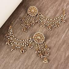 original earrings shining fashion 18k gold plated original bahubali stylish fancy