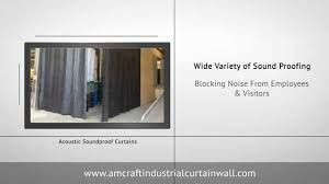 acoustic soundproof curtains for industrial noise control youtube
