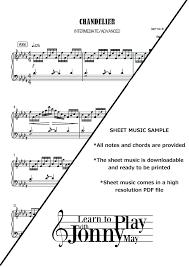 Chandelier Sia Piano Sheet Music Chandelier Piano Sheet Music U2013 Eimat Co