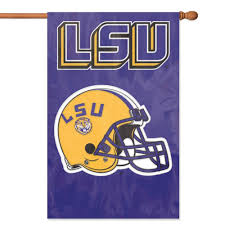 lsu flags purple and gold sports