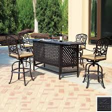 Patio Furniture Bar Height Set - bar height patio sets creativity pixelmari com